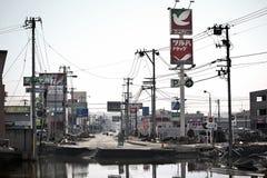 Цунами Япония fukushima 2011 Стоковое Изображение RF