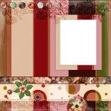 цыганин альбома 8x8 богемский медленно двигает тип scrapbook страницы плана Стоковые Изображения RF