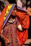 Цыганская дама, Jaisalmer, Индия Стоковые Фото
