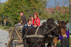 Цыганская семья стоковая фотография
