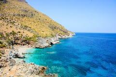Цыганский залив запаса в Сицилии Италии Стоковое Изображение RF