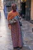 Цыганский seling в улицах Cartagena стоковая фотография