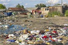 Цыганское поселение после потоков стоковое фото