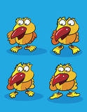Цыпленоки над синью Стоковые Изображения RF