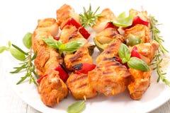 Цыпленок барбекю с травами Стоковая Фотография