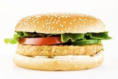 цыпленок бургера Стоковое Изображение