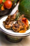 цыпленок гарнирует rotisserie rosemary Стоковые Изображения RF