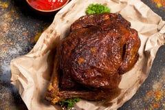 Цыпленок зажаренный с специями Стоковое Фото