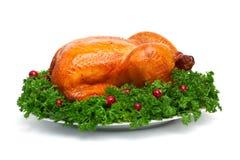 цыпленок зажарил в духовке все стоковое фото rf