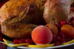 цыпленок зажарил в духовке индюка Стоковые Изображения RF