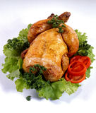 цыпленок зажарил в духовке Стоковое фото RF