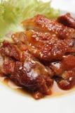 Цыпленок зажженный азиатом Стоковое Изображение