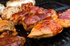 Цыпленок и порт BBQ Стоковая Фотография RF