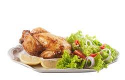 Цыпленок и свежий салат Стоковая Фотография RF