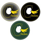 Цыпленок и яйцо в письме c и помечать буквами логотип цыпленка иллюстрация штока