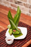 Цыпленок листьев Pandan Стоковое фото RF