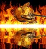 Цыпленок на решетке стоковые изображения