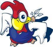 цыпленок супер иллюстрация вектора