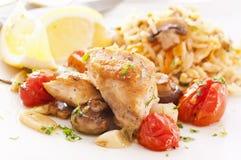 Цыпленок с рисом стоковое изображение rf