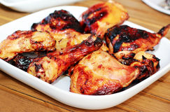 цыпленок bbq стоковая фотография