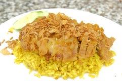 Цыпленок Biryani или Spiced курица с рисом стоковые изображения rf