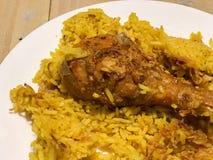 Цыпленок Biryani с рисом Стоковая Фотография RF