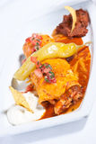 цыпленок burrito стоковая фотография