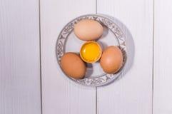 цыпленок eggs белизна Стоковая Фотография RF