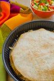 Цыпленок Quesadillas с сыром стоковое изображение rf