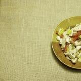 Цыпленок Ried с красным и желтым болгарским перцем Стоковая Фотография