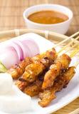 цыпленок satay Стоковое Изображение RF