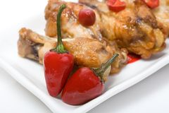 цыпленок spices крыла Стоковая Фотография RF