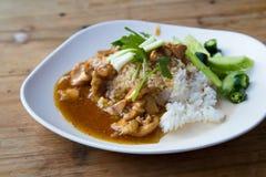 Цыпленок Teriyaki и фрай stir брокколи стоковые фотографии rf
