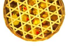 цыпленоки пасха корзины Стоковая Фотография RF