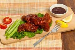 Цыпленок буйвола барбекю Стоковые Фотографии RF