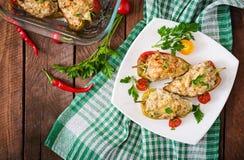 Цыпленок заполненных перцев семенить Стоковая Фотография
