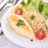Цыпленок и овощи стоковое фото
