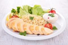 Цыпленок и овощи стоковые фотографии rf