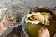 Цыпленок и суп Стоковое Фото