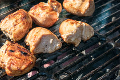 Цыпленок на BBQ Стоковые Фотографии RF