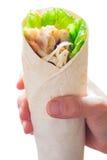Цыпленок обруча в руке Стоковая Фотография