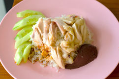 Цыпленок пара с рисом Стоковая Фотография RF