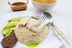 Цыпленок пара с рисом. Стоковая Фотография RF