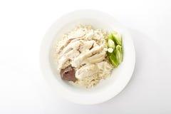Цыпленок пара с рисом Стоковые Изображения