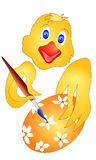 Цыпленок пасхи eggs краски Стоковое Изображение RF