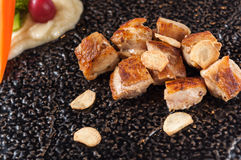 Цыпленок Розмари меда стоковое изображение