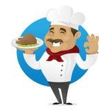 Цыпленок сервировки шеф-повара Стоковая Фотография RF