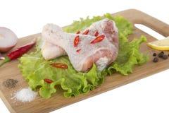 цыпленок сырцовый стоковое изображение rf