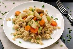 Цыпленок с морковью, сельдереем и кускус Стоковые Фотографии RF