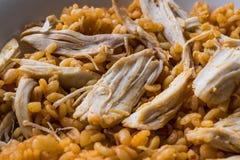 Цыпленок с рисом булгура крупного плана eyedroppers высокий разрешения взгляд очень Стоковые Фото